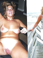 Huge Mix Of Hot Amateurs Before And After Undressing - #2